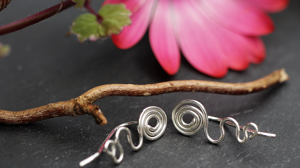 Medium Sterling Silver Ear Climbers