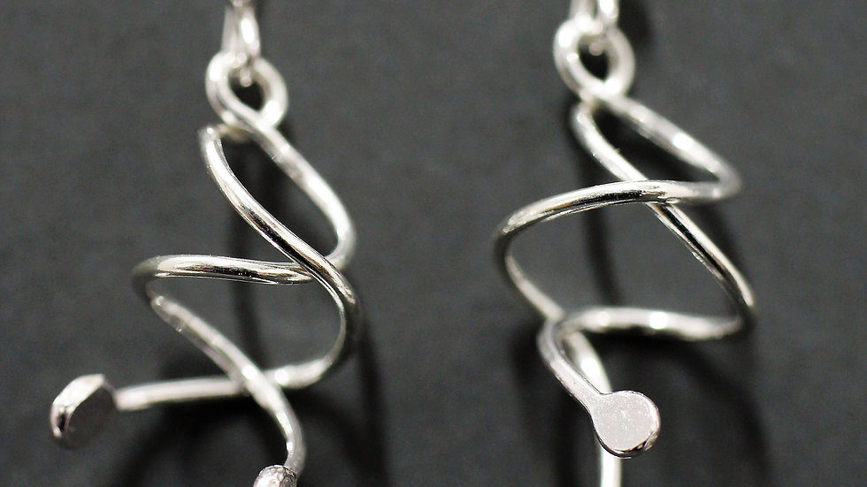 Sterling Silver Twist Earrings
