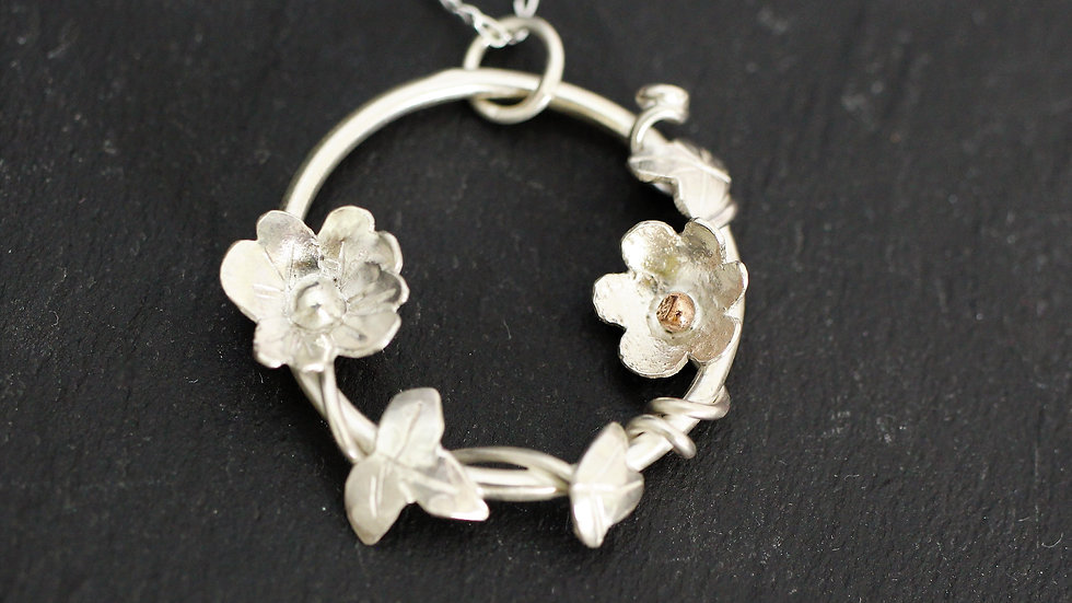 Small Sterling Silver Flower Necklace