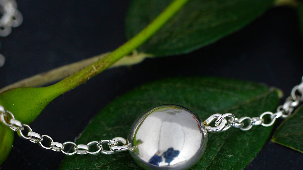 Ball Pendant Sterling Silver Necklace