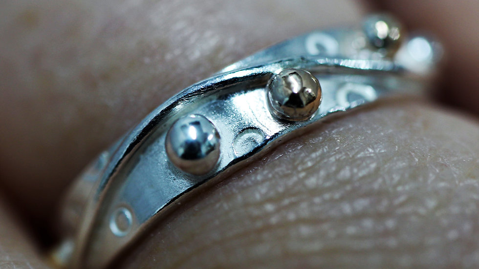 Silver and Gold  Ring Size P ½