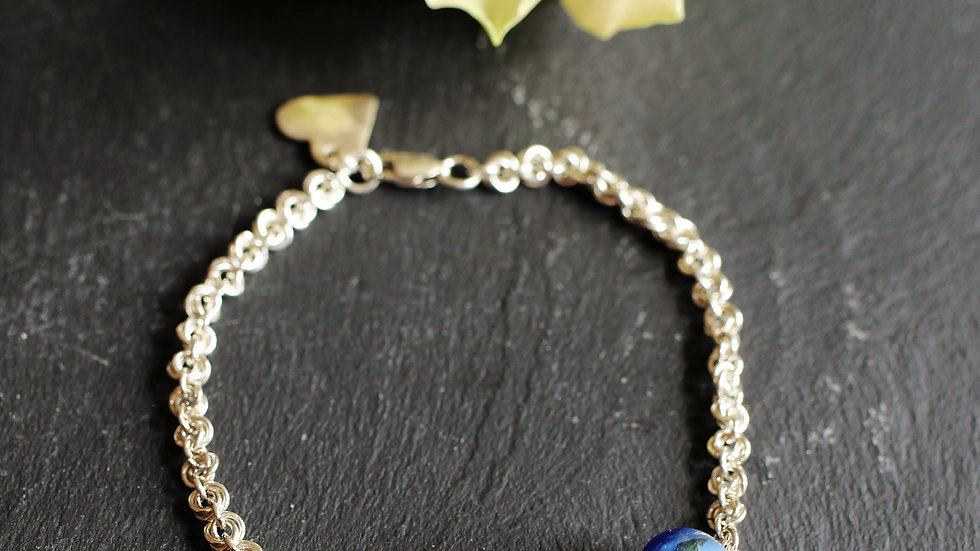 Rose Bracelet with choice of Venetian Glass Beads