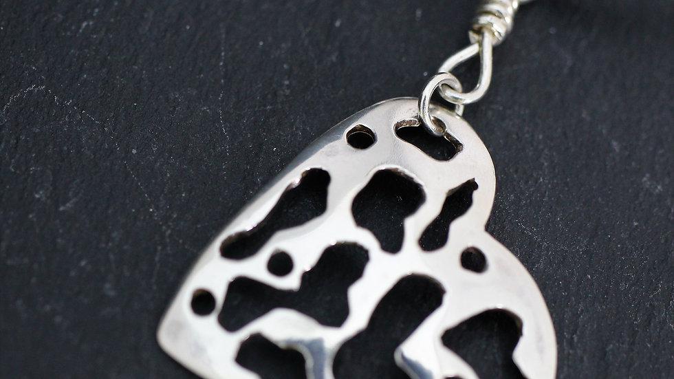Sterling Sliver Tattered Heart Necklace