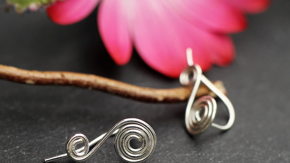 Small Sterling Silver Ear Climbers