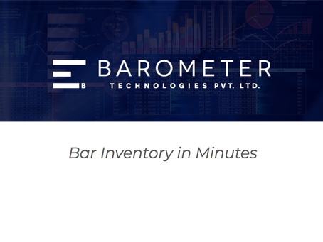 Bar Software Plans - Costing and Analytics