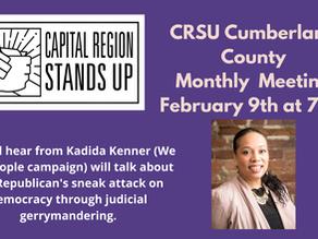 Cumberland Co. CRSU Virtual Monthly Meeting