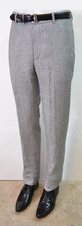 Linen Flat Front Trousers