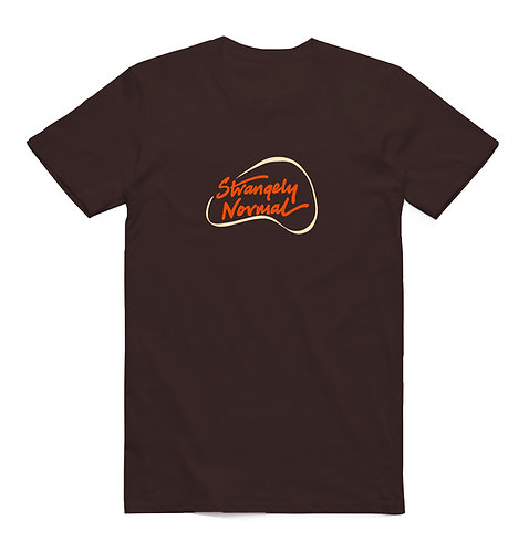 Strangely Normal Logo T-Shirt Chocolate