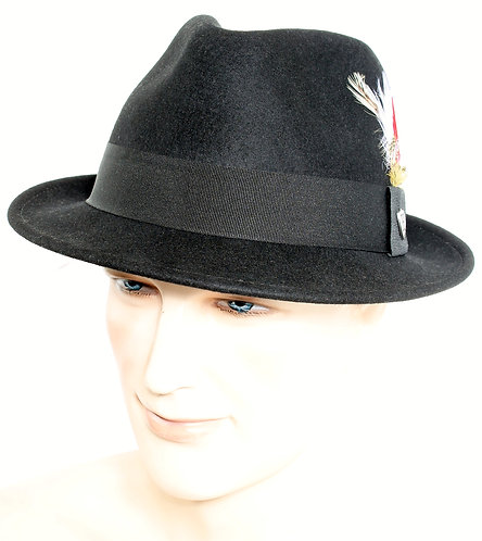 Frank Teardrop Fedora in Black
