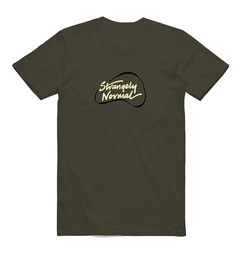Strangely Normal Logo T-Shirt Army Green