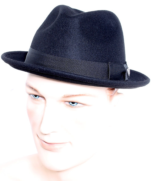 Dean Short Brim Fedora in Black