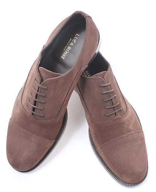 Chocolate Suede Oxford
