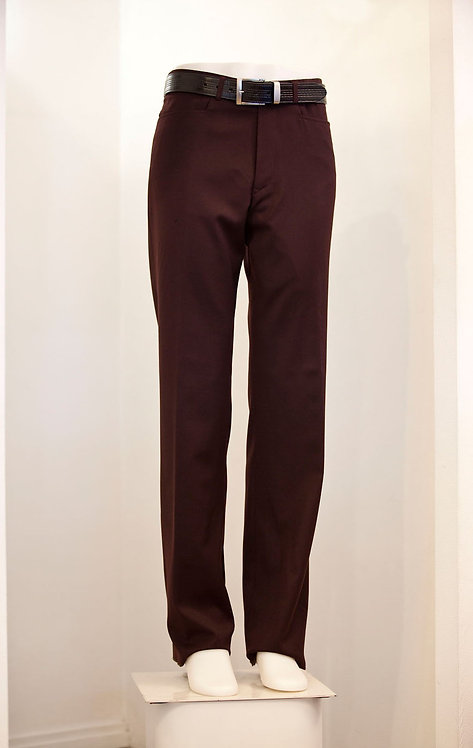 Burgundy Flat Front Trouser