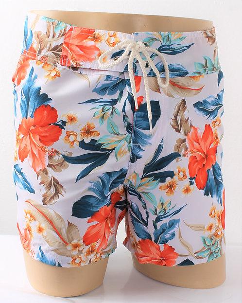 White Flower Laguna Board Shorts