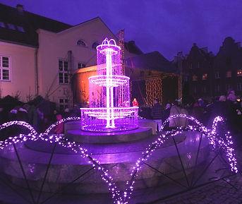 Рождественский фонтан в центре Ольштына