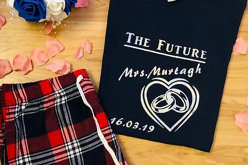 Personalised The Future Mrs Ladies Pajama`s
