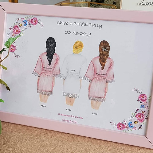 Personlised bridal party framed gift