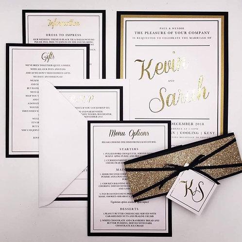 Blacktie Wedding invite bundle