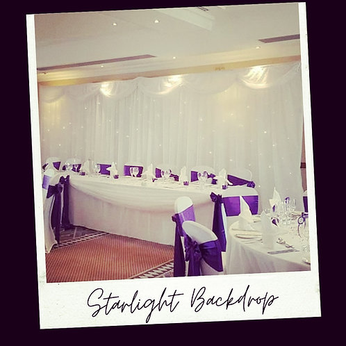 Starlight backdrop 6m x 3m (hire only)
