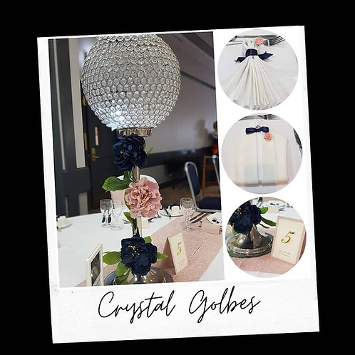 Crystal globes available to hire