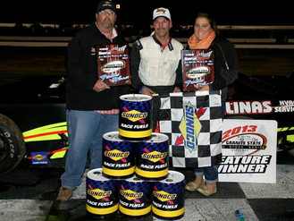 Larry Gelinas wins first Granite State Pro Stock feature. Mike O'Sullivan picks up 2013 Championship