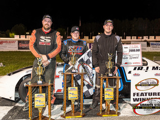 Doiron Celebrates 4th of July in Lee Victory Lane