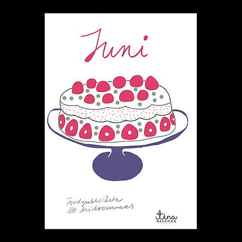 6月のお菓子「イチゴケーキ」毎月のお菓子シリーズ by Tina Backman