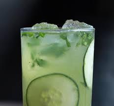 cucumber, basil & ginger mocktail
