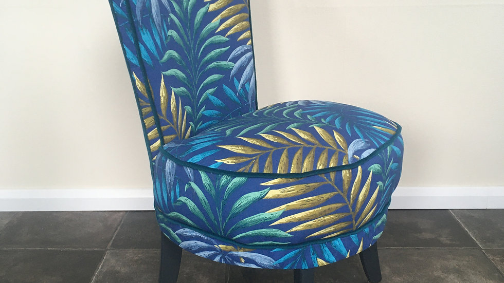 Vintage 1950's Cocktail Chair / Boudoir Chair Reupholstered