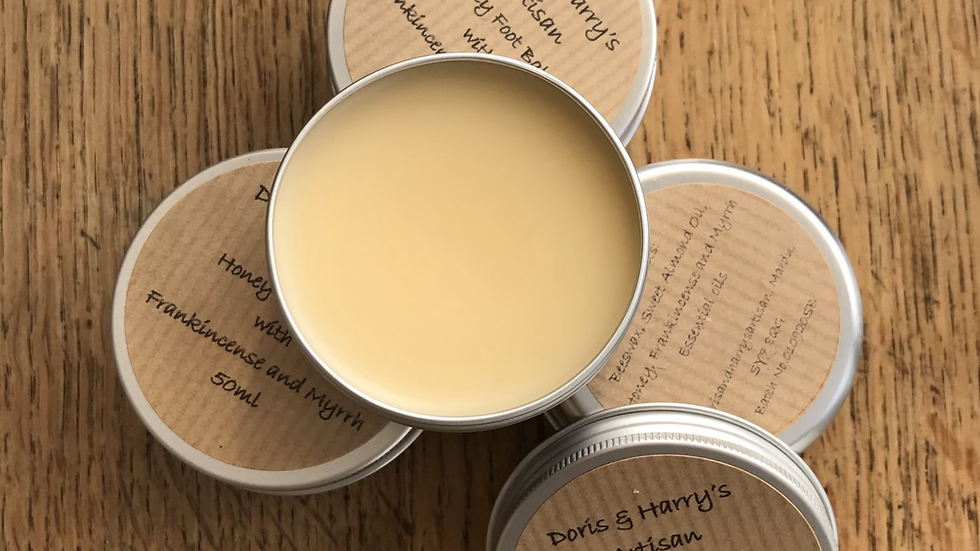 Natural Honey Foot Balm with Frankincense and Myrrh