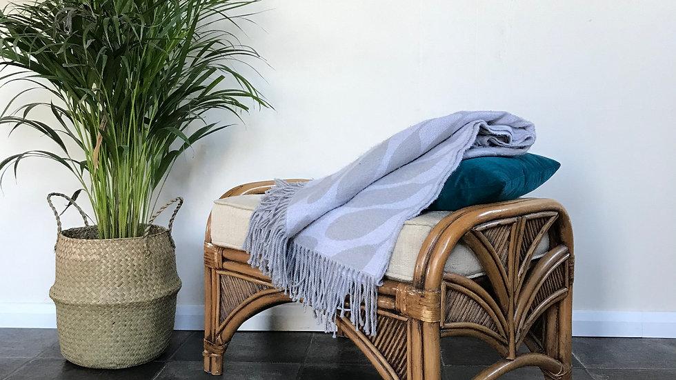 Mid Century Vintage Bamboo Stool / Footstool / Boho Stool / Coffee Table