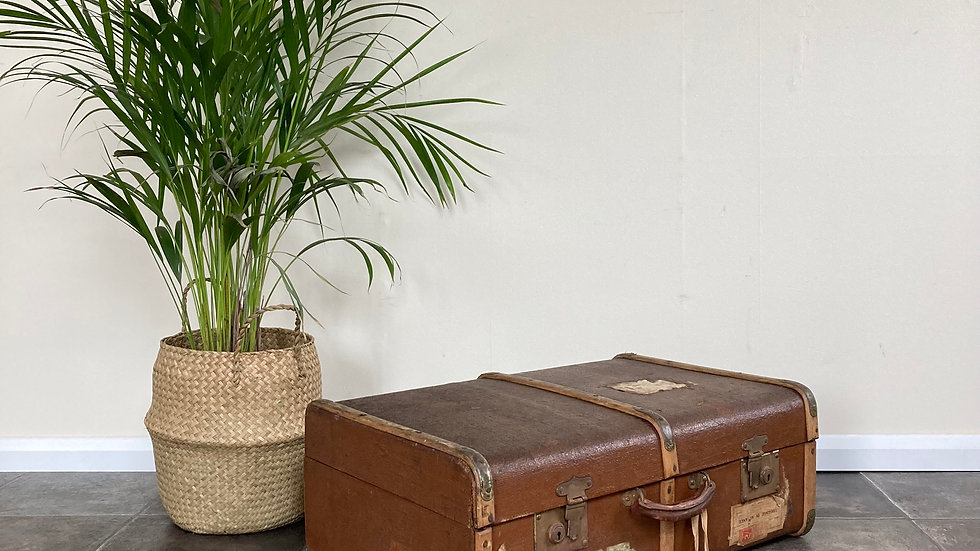 Characterful Antique Trunk / Suitcase / Side Table / Travel Trunk