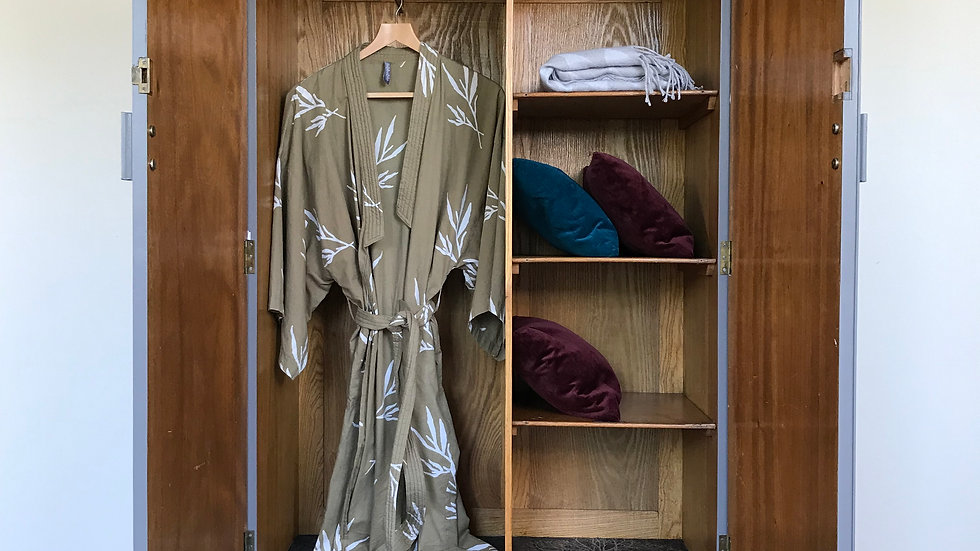 Painted Vintage Antique Carved Armoire/Wardrobe in Little Greene Dark Lead