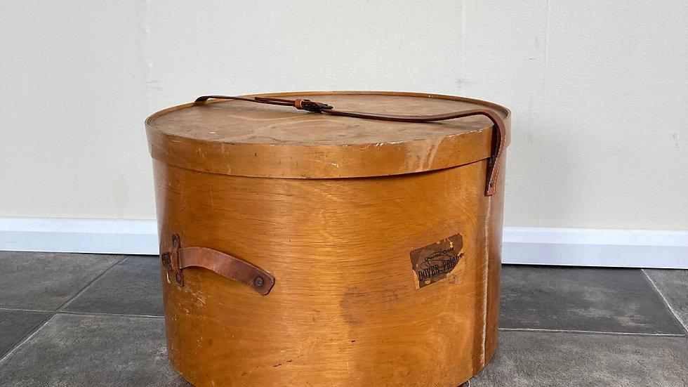 Antique 1920s Luterma Reval Venesta Hat Box in Birch Plywood