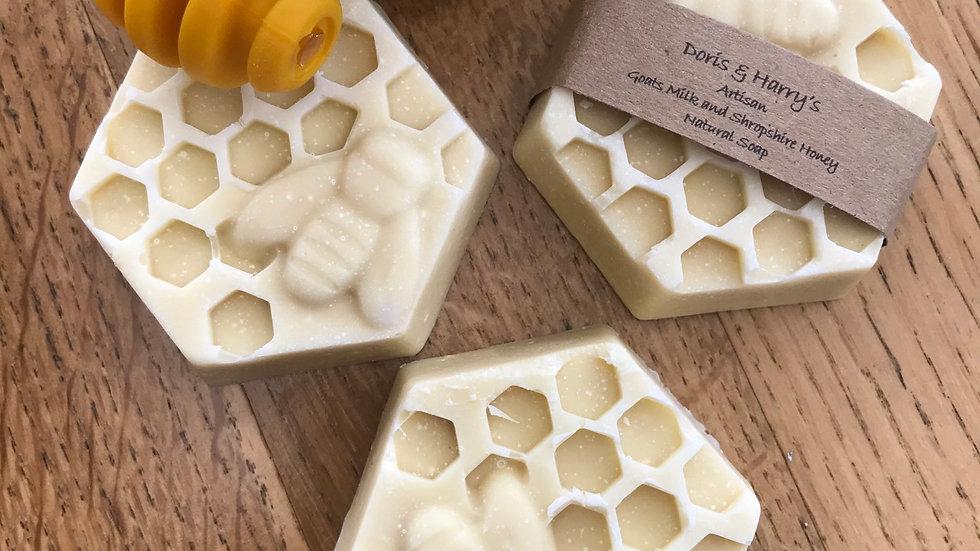 Goats Milk and Shropshire Honey Soap with Lavender and Bergamot