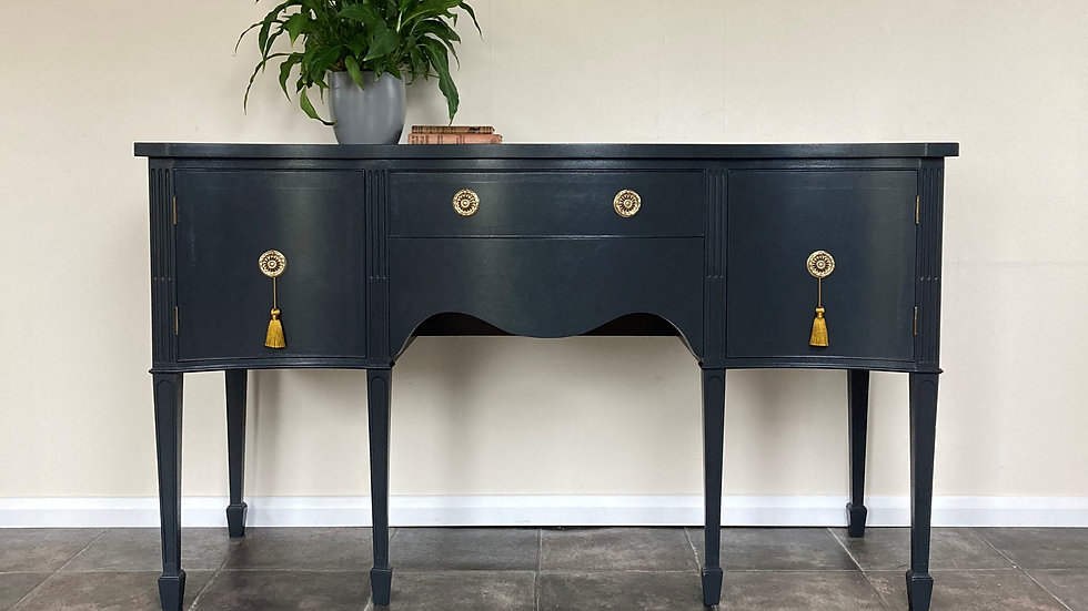 Vintage Antique Georgian Style Mahogany Painted Sideboard by Rackstraw
