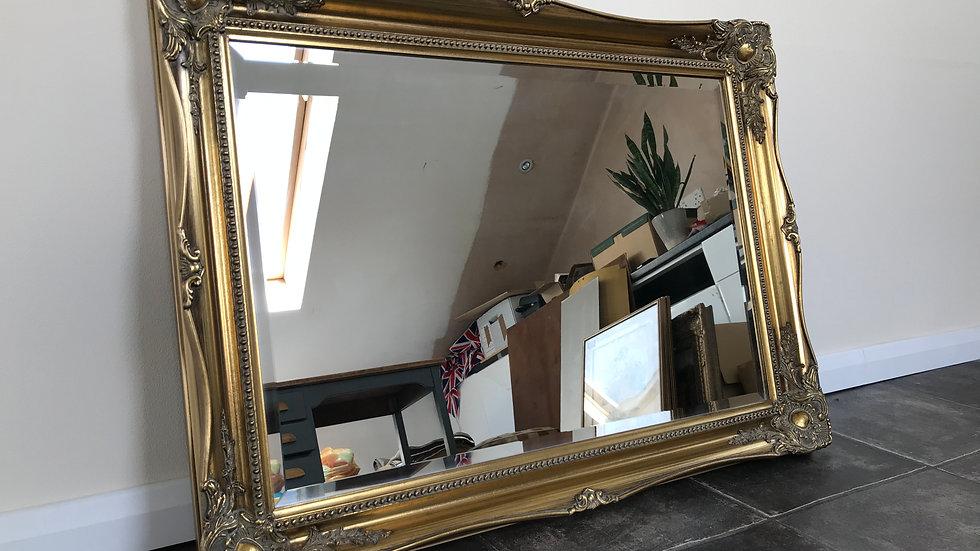 Ornate Baroque/Rococo Style Vintage Gilt Over Mantel Mirror / Wall Mirror