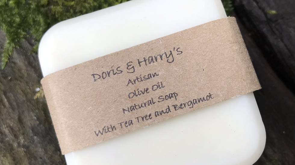Olive Oil Face Soap with Tea Tree and Bergamot