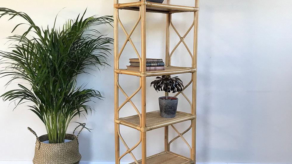 Mid Century Vintage Bamboo Shelves / Boho Shelves