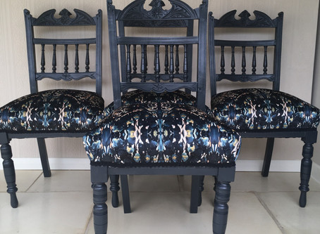 Upcycled Antique Dining Chairs