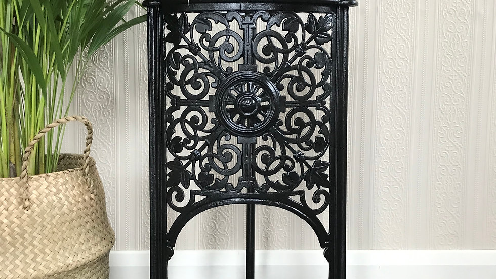 Antique Cast Iron Black Umbrella Stand / Holder / Walking Cane