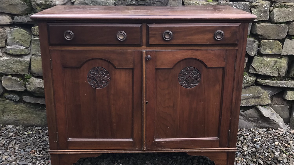 Antique Sideboard Custom Painted in Farrow and Ball Off Black