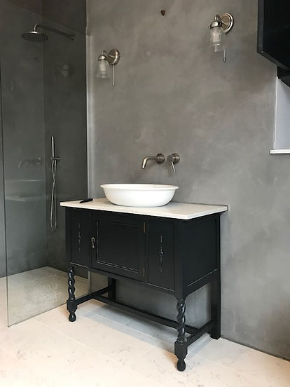 Antique Washstand in Farrow and Ball Off Black