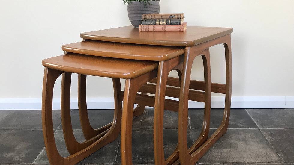 Vintage Retro Nathan Nest of Tables Mid Century Modern / Nathan Side Tables