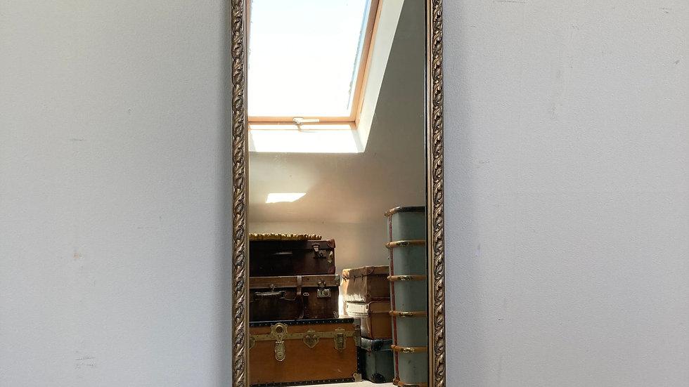 Antique Decorative Full Length Gilt Wall Mirror