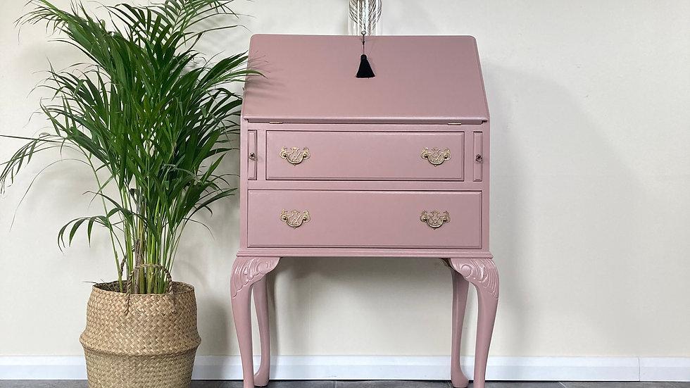 Vintage Painted Ladies Bureau/Writing Desk on Cabriole Legs