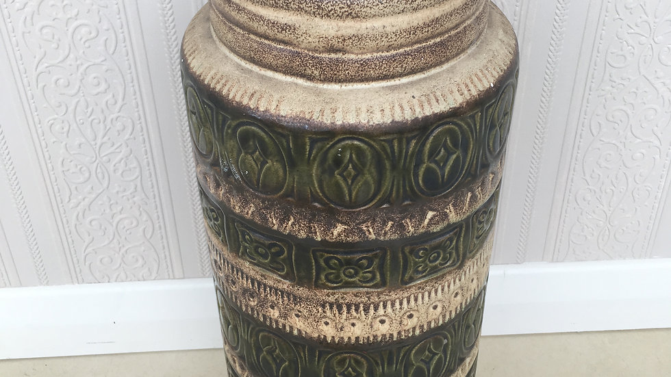Vintage / Retro Large West German Ceramic Floor Vase