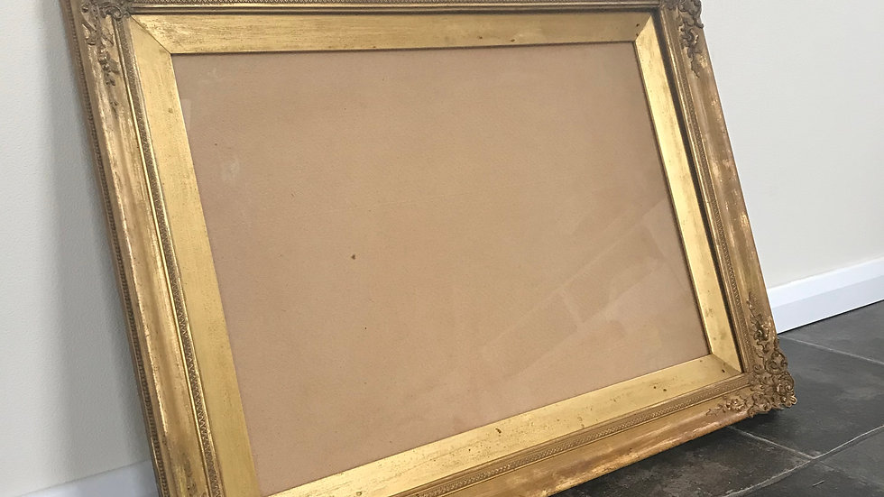 Antique Ornate Shabby Chic Gilt Picture Frame with Glass