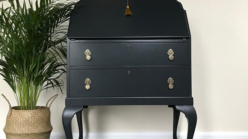 Vintage Black Painted Bureau by George  Hobbs Ltd in F&B Off Black