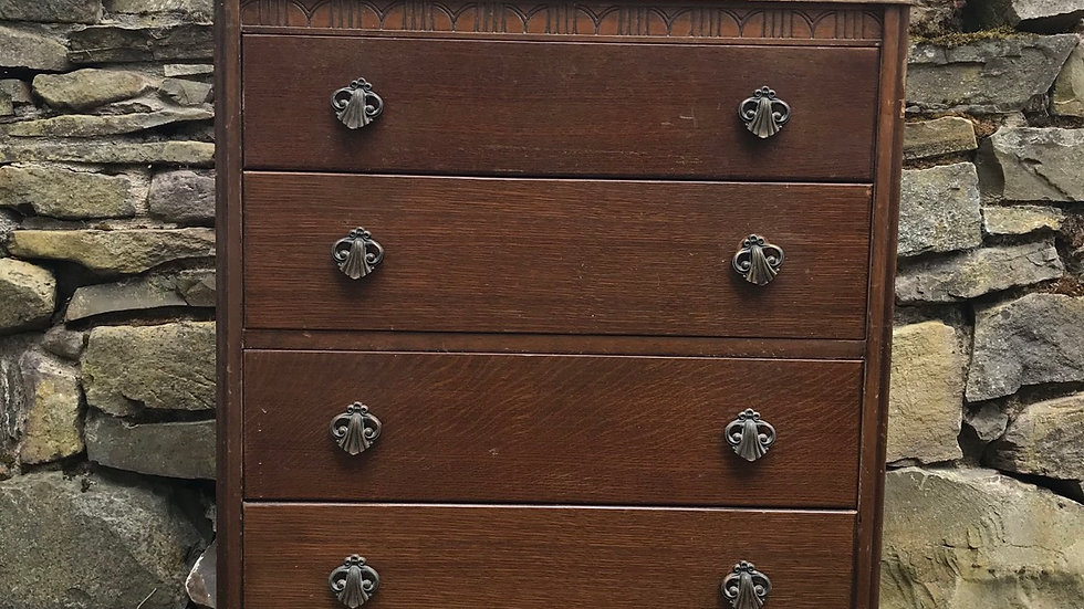 Commission Vintage Painted Harris Lebus Chest of Drawers